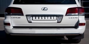 Lexus LX 570 2012 Защита заднего бампера d75х42 овал LLXZ-000870